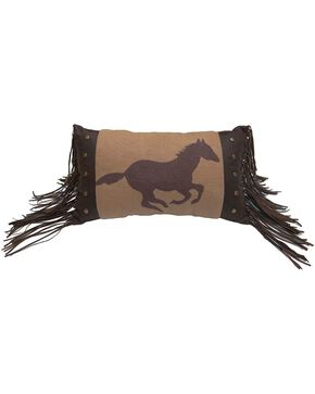 HiEnd Accents Running Horse Fleece Pillow, Multi, hi-res
