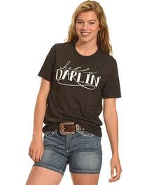 Cowgirl Justice Women's Hello Darlin' Crew Neck Tee, , hi-res