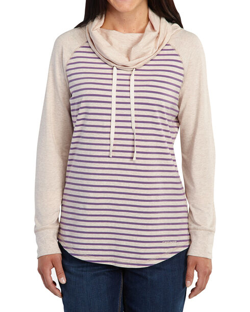 Carhartt Halley Cowlneck Shirt, Oatmeal, hi-res
