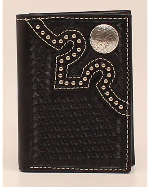 Nocona Embossed Concho Trifold Wallet, , hi-res