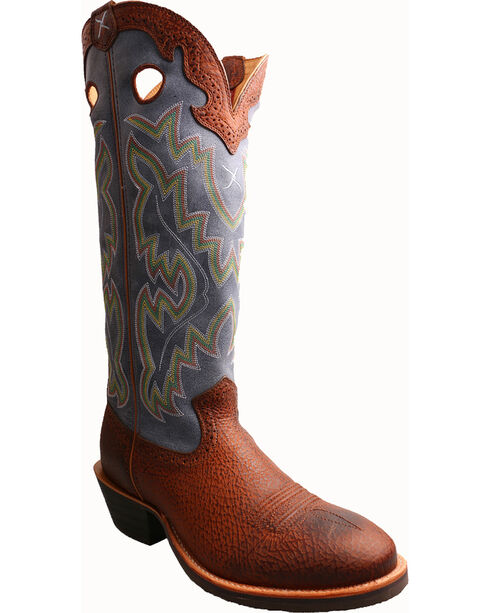 Twisted X Men's Buckaroo Distressed Western Boots, Peanut, hi-res