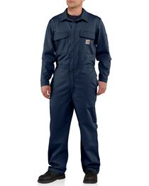 Carhartt Men's Flame Resistant Traditional Twill Coveralls, , hi-res