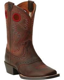 Ariat Youth Boys' Rough Stock Cowboy Boots - Square Toe, , hi-res