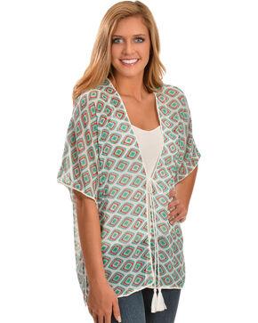 Wrangler Rock 47 Women's Short Sleeve Printed Kimono, Multi, hi-res