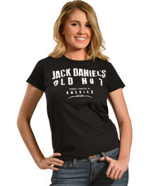 Jack Daniel's Women's Crafted in America Short Sleeve T-Shirt, Black, hi-res
