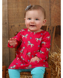 Wrangler Infant Girls' Pink Horse Print Tunic , , hi-res
