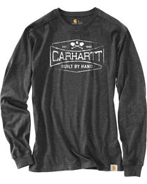 Carhartt Men's Heather Raglan Long Sleeve T-Shirt, , hi-res