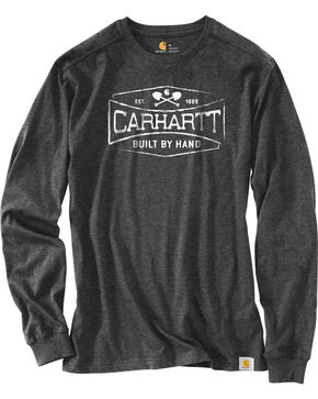 Carhartt Men's Heather Raglan Long Sleeve T-Shirt, Heather Grey, hi-res