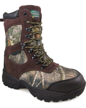 Smoky Mountain Youth Boys' Camo Sportsman Insulated Hunting Boots - Round Toe , Camouflage, hi-res