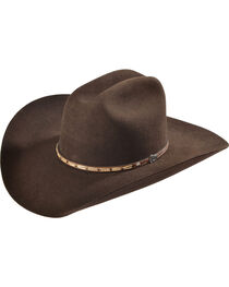 Justin 7X Bent Rail Bear Down Chocolate Cowboy Hat, , hi-res