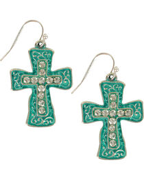 Shyanne® Women's Filigree Cross Earrings, , hi-res