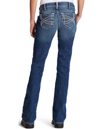 Ariat Women's Entwined R.E.A.L. Mid-Rise Riding Jeans, , hi-res