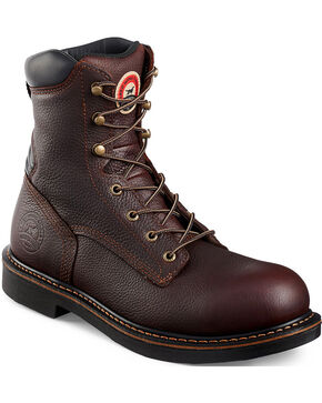 Red Wing Irish Setter Farmington Work Boots - Soft Round Toe, Brown, hi-res