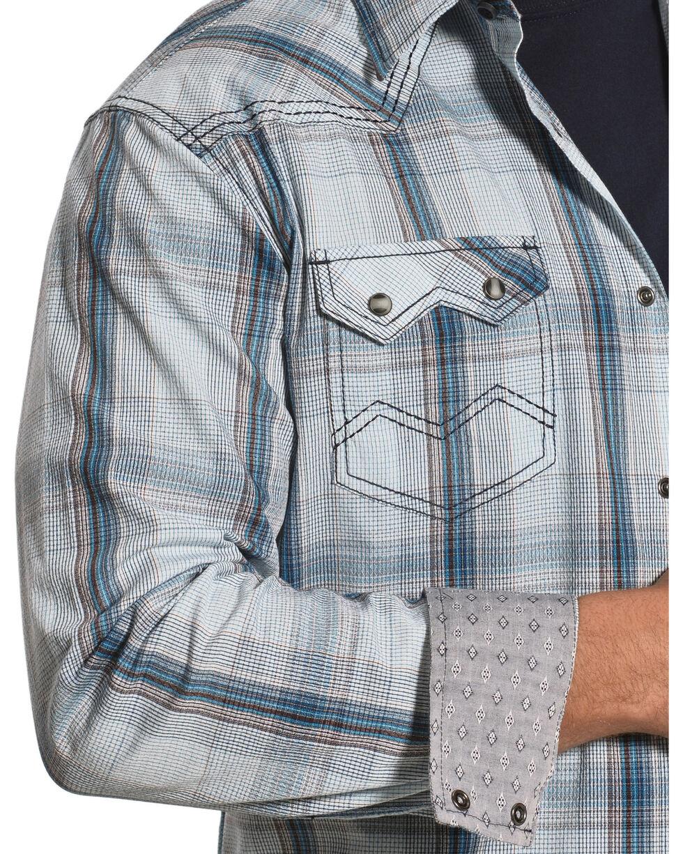 Moonshine Spirit Men's White Plaid Ghost Town Long Sleeve Shirt , , hi-res