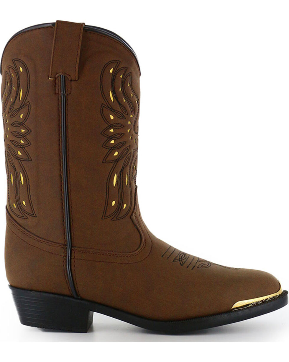 Cody James® Youth Phoenix Western Boots, Brown, hi-res
