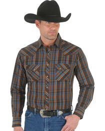 Wrangler Men's Fashion Plaid Long Sleeve Shirt, , hi-res