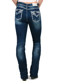 Grace in LA Women's Easy Fit Soft Denim Straight Leg Jeans, , hi-res