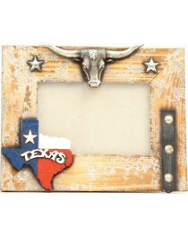 "Texas Longhorn Wooden Photo Frame - 4"" x 6"", , hi-res"