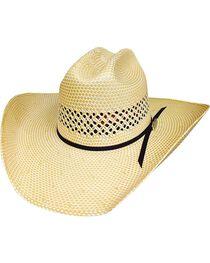 Bullhide Lettin' The Night Roll 100X Straw Hat, , hi-res