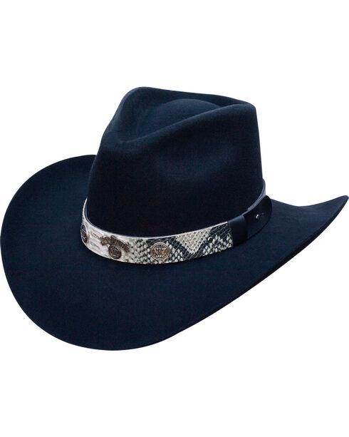 Jack Daniels Men's Structured Wool Snake Print Band Hat , , hi-res