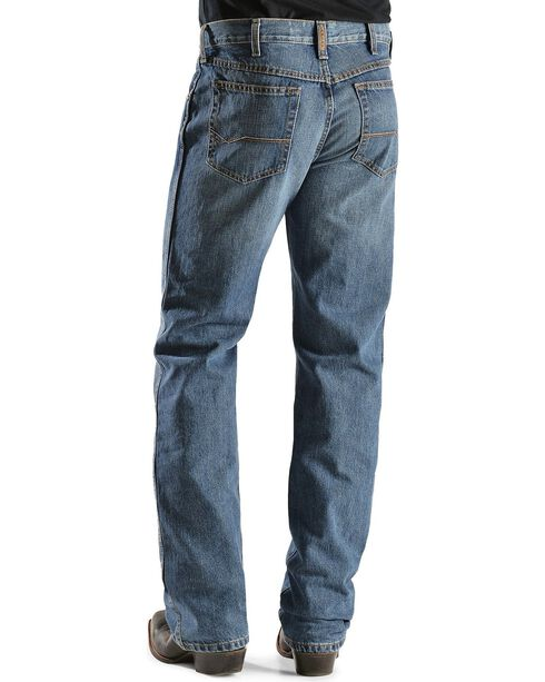 Ariat Men's Heritage Relaxed Fit Boot Cut Jeans, Med Stone, hi-res