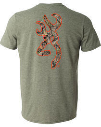 Browning Men's Mossy Oak Country Buckmark Green Short Sleeve Tee, , hi-res