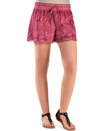 Black Swan Pink Queen's Lace Shorts, , hi-res