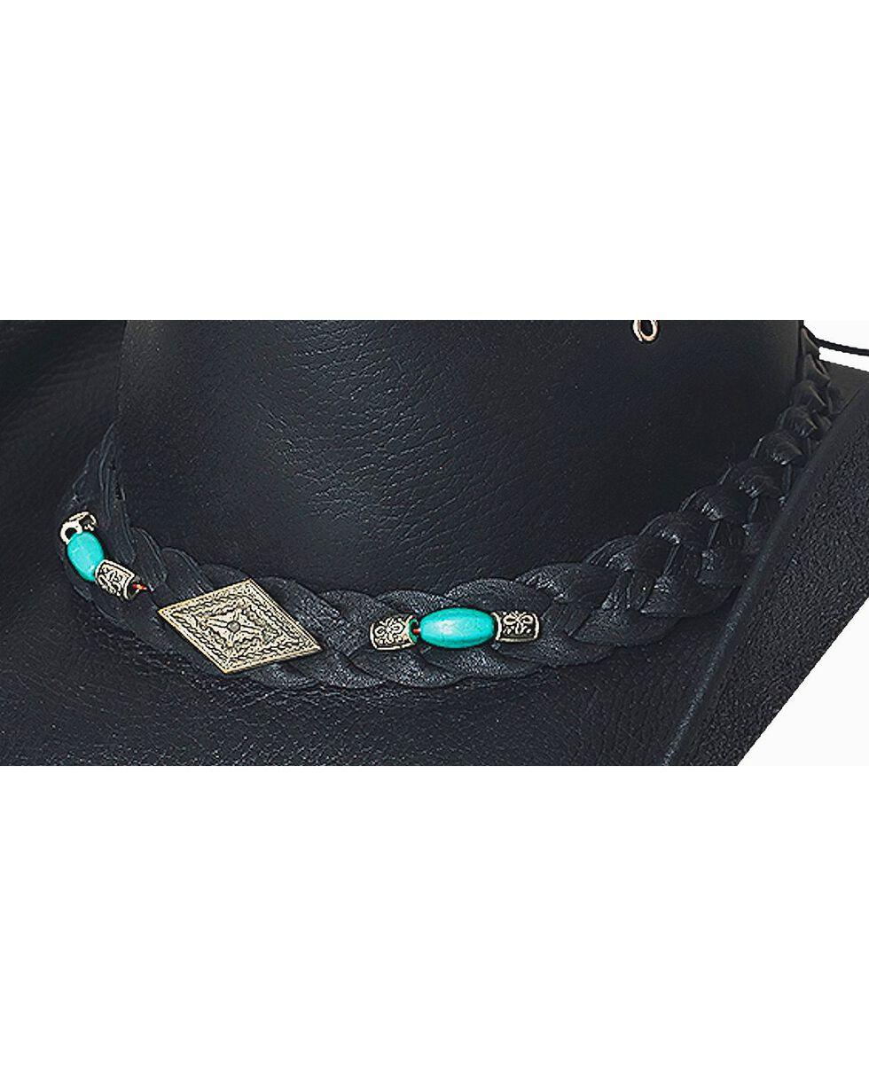 Bullhide Men's Royston Leather Hat, Black, hi-res