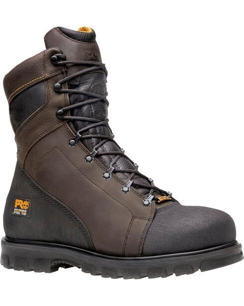 Timberland Pro Men's Rigmaster Steel Toe Waterproof Boots, Brown, hi-res