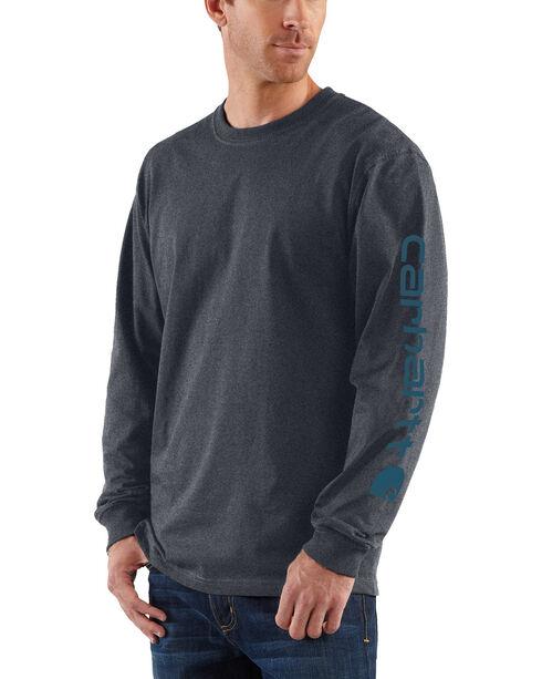 Carhartt Men's Long Sleeve Graphic T-Shirt, Grey, hi-res