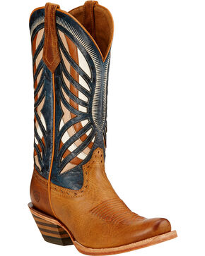 Ariat Women's Gentry Performance Western Boots, Honey, hi-res