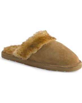 Women's Fleece Lined Scuff Slipper, Chestnut, hi-res