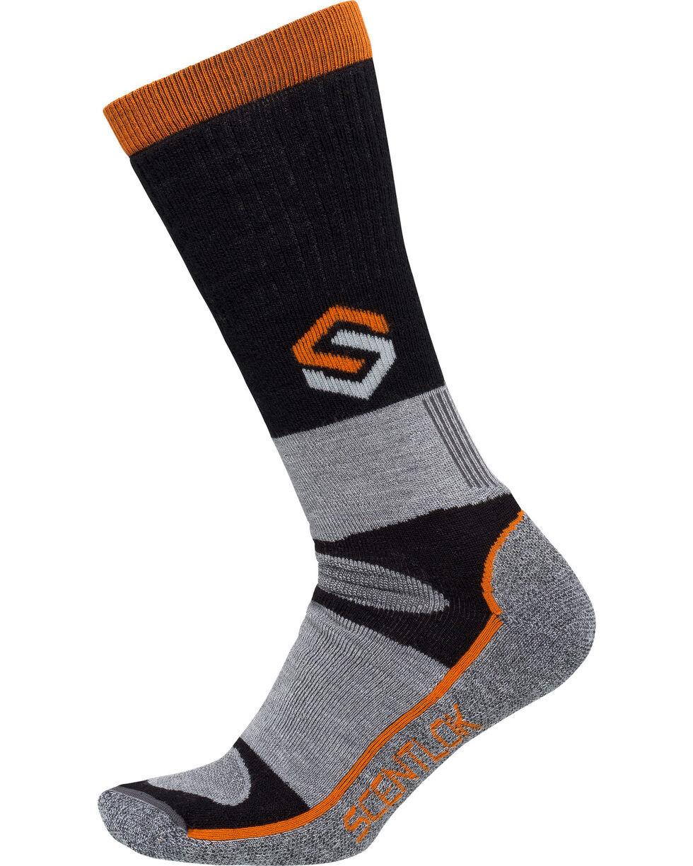Scentlok Technologies Men's Black Merino Thermal Crewmax Socks, Black, hi-res