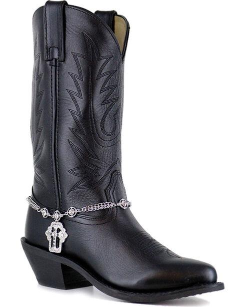 Shyanne® Women's Silver Cross Boot Bracelet , Silver, hi-res