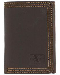 M&F Men's Leather Tri-Fold Wallet, , hi-res