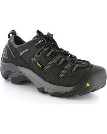 Keen Men's Black Utility Atlanta Cool Work Shoes - Steel Toe , , hi-res
