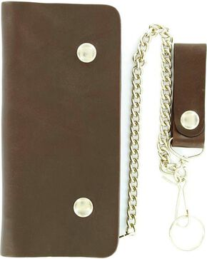 M&F Men' s Trucker Chain Wallet, Brown, hi-res