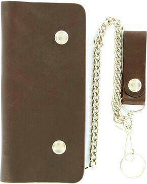 M&F Men' s Trucker Chain Wallet, Brown, hi-res