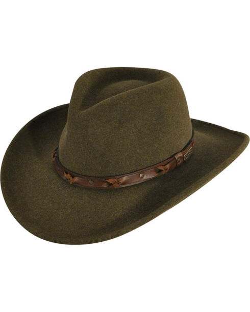 Bailey Wind River Palisade Olive Western Hat, , hi-res
