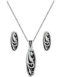 Montana Silversmiths Leathercut Trailing Vine Jewelry Set, , hi-res