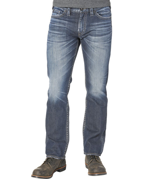 Silver Men's Nash Classic Fit Straight Jeans, Indigo, hi-res