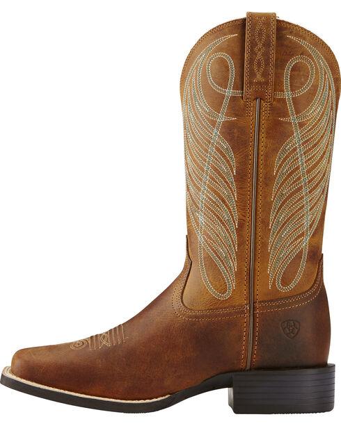 Ariat Women's Round Up Western Boots, Brown, hi-res