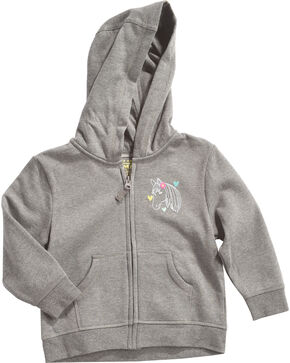 Farm Girl Toddler Girls' Grey Cowgirl Gear Hoodie , Grey, hi-res