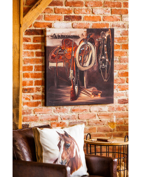 Evergreen Western Past Indoor Wall Canvas , Brown, hi-res