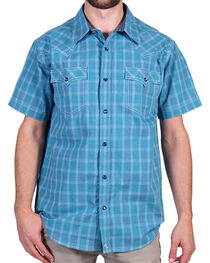 Cody James Men's Plaid Print Short Sleeve Shirt, , hi-res