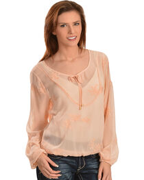 Ariat Alva Embroidered Chiffon Top, , hi-res
