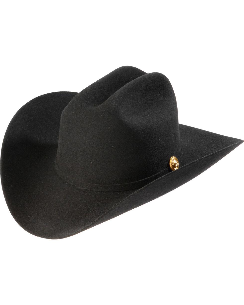 Larry Mahan 5X Los Tigres Del Norte Black Felt Cowboy Hat , Black, hi-res