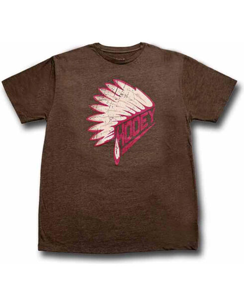 Hooey Men's First Headdress Graphic T-Shirt, Brown, hi-res