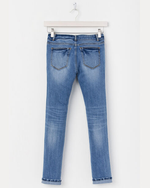Miss Me Girls' (7-14) Indigo Simple Jeans - Skinny, Indigo, hi-res