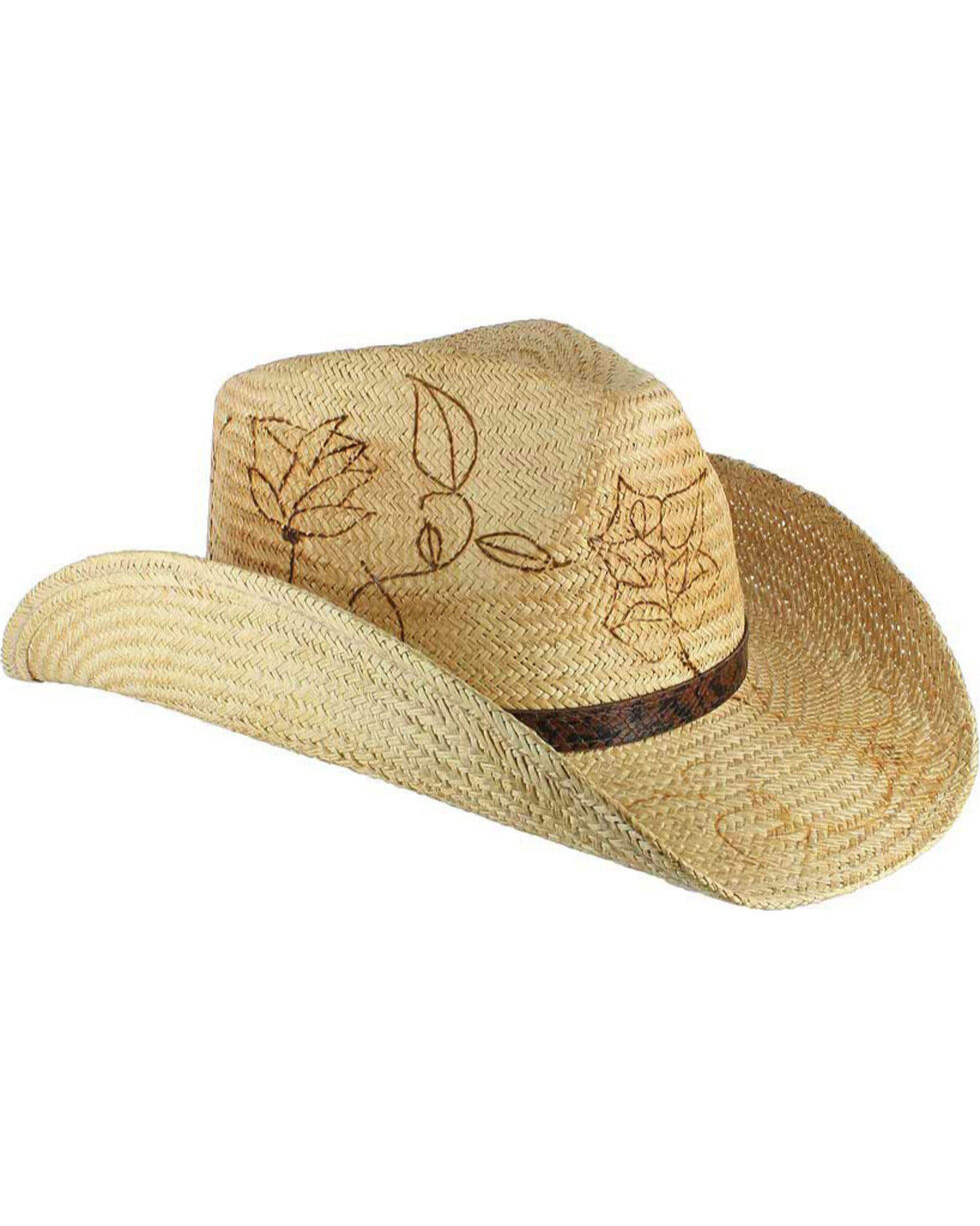 Shyanne® Women's Branded Cowboy Hat, Tan, hi-res